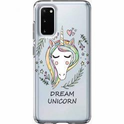 Etui na Samsung Galaxy S20 Plus - Dream unicorn - Jednorożec.