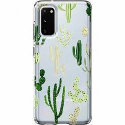 Etui na Samsung Galaxy S20 Plus - Kaktusowy ogród.