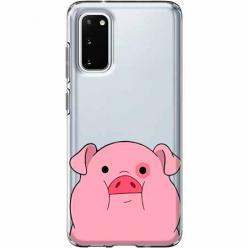 Etui na Samsung Galaxy S20 Plus - Słodka różowa świnka.
