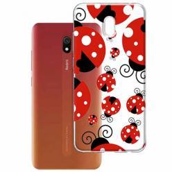 Etui na Xiaomi Redmi 8A - Czerwone wesołe biedronki.