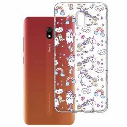 Etui na Xiaomi Redmi 8A - Tęczowe jednorożce.