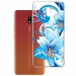 Etui na Xiaomi Redmi 8A - Niebieski kwiat północy.