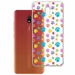 Etui na Xiaomi Redmi 8A - Kolorowe psie łapki.