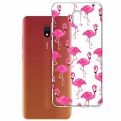 Etui na Xiaomi Redmi 8A - Różowe flamingi.