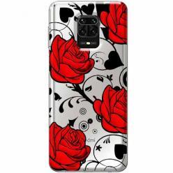 Etui na Xiaomi Redmi Note 9 Pro - Czerwone róże.