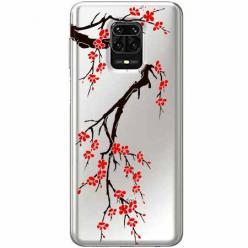 Etui na Xiaomi Redmi Note 9s - Krzew kwitnącej wiśni.