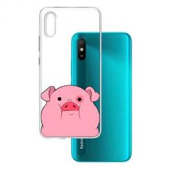 Etui na Xiaomi Redmi 9A - Słodka różowa świnka.