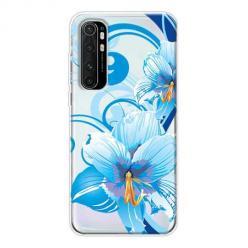 Etui na Xiaomi Mi Note 10 Lite - Niebieski kwiat północy.