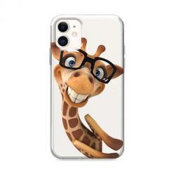 Etui na iPhone 12 Mini - Wesoła żyrafa w okularach.