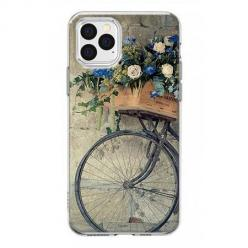 Etui na iPhone 12 Pro Max - Rower z kwiatami