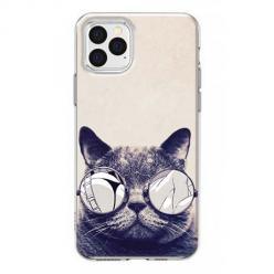 Etui na iPhone 12 Pro Max - Kot w okularach