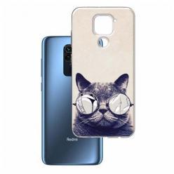 Etui na Xiaomi Redmi Note 9 - Kot w okularach