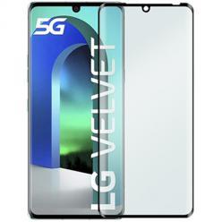 LG Velvet hartowane szkło 5D Full Glue - Czarny.
