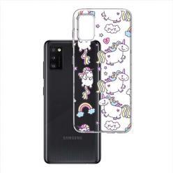 Etui na Samsung Galaxy A41 - Tęczowe jednorożce.