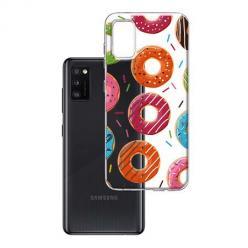 Etui na Samsung Galaxy A41 - Lukrowane pączki.