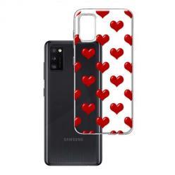Etui na Samsung Galaxy A41 - Czerwone serduszka.