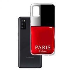Etui na Samsung Galaxy A41 - Czerwony lakier do paznokci