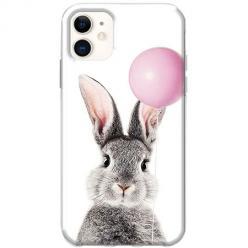 Etui na telefon Slim Case - Wesoły królik z balonikiem