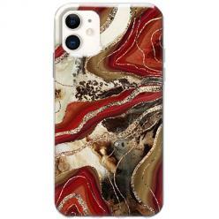 Etui na telefon Slim Case - Rubinowo złoty Agat