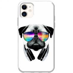 Etui na telefon Slim Case - Piesek w okularach DJ