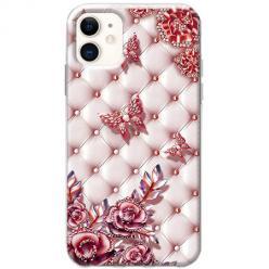 Etui na telefon Slim Case - Motyle z różami Glamour