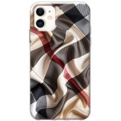 Etui na telefon Slim Case - Pomięty szalik w kratkę