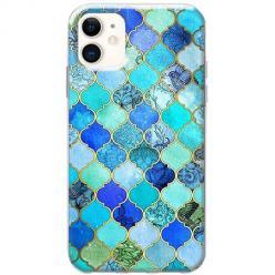 Etui na telefon Slim Case - Błękitny damaszek