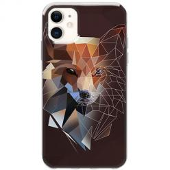 Etui na telefon Slim Case - Geometryczny Lis brązowy