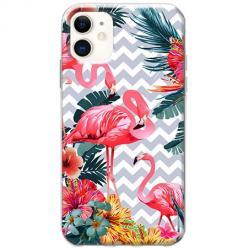 Etui na telefon Slim Case - Różowe flamingi