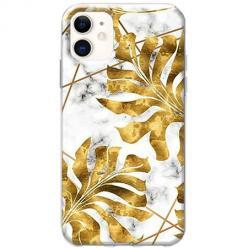 Etui na telefon Slim Case - Złote liście monstery