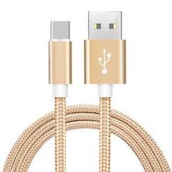 Kabel USB Typ-C do szybkiego ładowania QUICK CHARGE 3.0 ładowarka - Złoty.