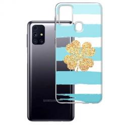 Etui na Samsung Galaxy M31s - Złota czterolistna koniczyna.
