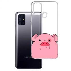 Etui na Samsung Galaxy M31s - Słodka różowa świnka.