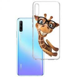 Etui na Huawei P Smart Pro 2019 - Wesoła żyrafa w okularach.