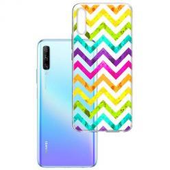 Etui na Huawei P Smart Pro 2019 - Tęczowy przeplataniec.