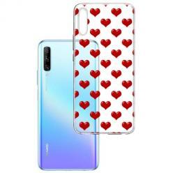 Etui na Huawei P Smart Pro 2019 - Czerwone serduszka.