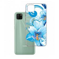 Etui na Huawei Y5P - Niebieski kwiat północy.