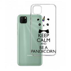 Etui na Huawei Y5P - Keep Calm… Pandicorn.