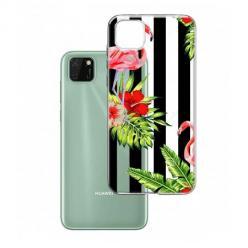 Etui na Huawei Y5P - Opowieści flamingów.