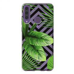 Etui na Huawei Y6P -  Egzotyczne liście bananowca.