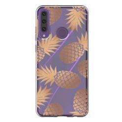 Etui na Huawei Y6P - Złote ananasy.