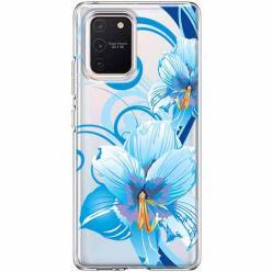 Etui na Samsung Galaxy S10 Lite - Niebieski kwiat północy.