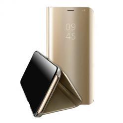 Etui na  Samsung Galaxy Note 10 Lite Flip Clear View z klapką - Złoty.