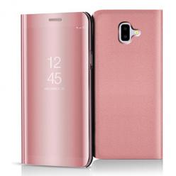 Etui na Samsung Galaxy J6 Plus - Flip Clear View z klapką - Różowy.