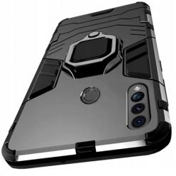 Etui na Samsung Galaxy A20s Pancerne Magnet Ring - Czarny.