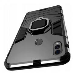 Etui na Samsung Galaxy A40 Pancerne Magnet Ring - Czarny.