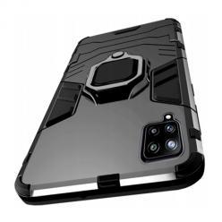 Etui na Samsung Galaxy A42 5G Pancerne Magnet Ring - Czarny.