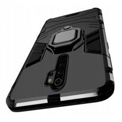 Etui na Xiaomi Redmi 9 Pancerne Magnet Ring - Czarny.