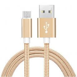 Ładowarka Kabel Micro USB do Samsung Galaxy QUICK CHARGE 3.0 - Złoty.