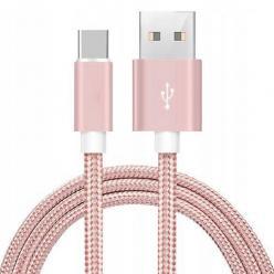 Kabel USB Typu C do Samsung Galaxy QUICK CHARGE 3.0 ładowarka - Różowy
